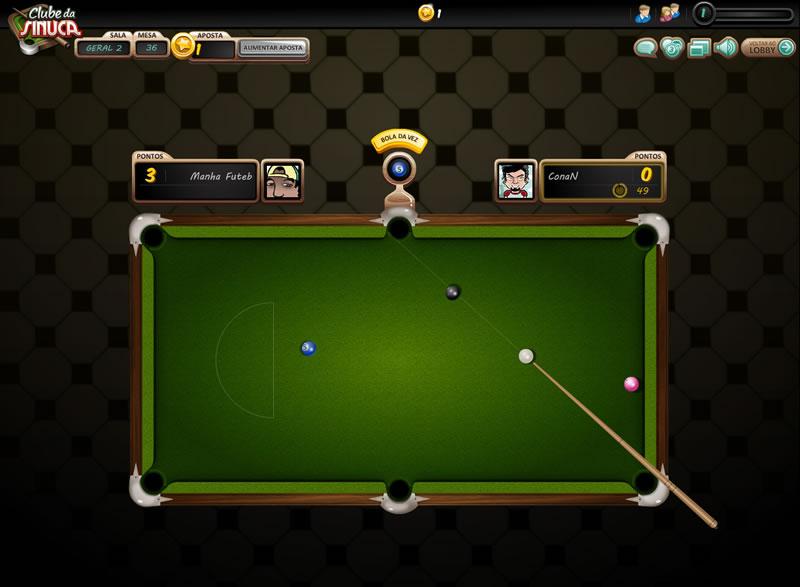 Jogo online gratis sinuca