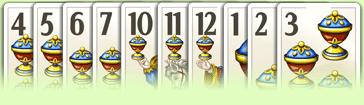 Imagem sequência da maior para a menor carta